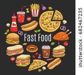 vector sketch illustration of... | Shutterstock .eps vector #682467235