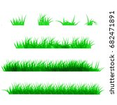 green grass  isolated on white... | Shutterstock . vector #682471891
