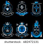 vector vintage heraldic coat of ... | Shutterstock .eps vector #682472131