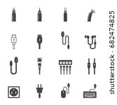 cable icons vector illustration   Shutterstock .eps vector #682474825