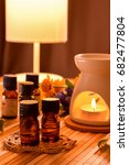 essential oils for aromatherapy ... | Shutterstock . vector #682477804