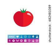 ripe tomato icon | Shutterstock .eps vector #682481089
