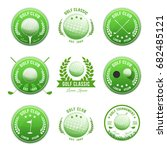 golf club banners and badges... | Shutterstock .eps vector #682485121