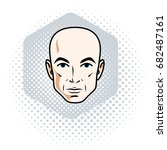man face  human head. vector... | Shutterstock .eps vector #682487161