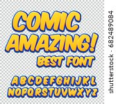 creative high detail comic font.... | Shutterstock .eps vector #682489084