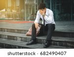 people unemployed businessman... | Shutterstock . vector #682490407