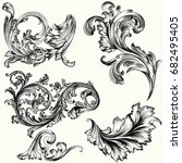 set of vector decorative...