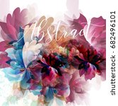 abstract floral background with ... | Shutterstock .eps vector #682496101