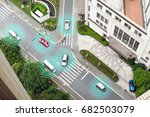 smart car  hud    autonomous... | Shutterstock . vector #682503079