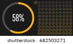 set of circle percentage... | Shutterstock .eps vector #682503271