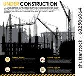 building under construction... | Shutterstock .eps vector #682506064
