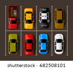 city parking vector web banner. ... | Shutterstock .eps vector #682508101