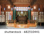april 21 2017. japanese temple... | Shutterstock . vector #682510441