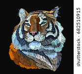 embroidery tiger. portrait of... | Shutterstock .eps vector #682510915