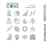 set of thin line icons ... | Shutterstock .eps vector #682511101