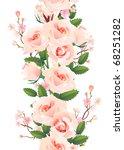 vertical seamless rose pattern. ... | Shutterstock . vector #68251282