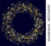 gold star round border ... | Shutterstock .eps vector #682516045