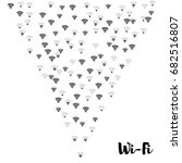 wi fi icons vector pattern....   Shutterstock .eps vector #682516807