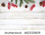 christmas theme background with ... | Shutterstock . vector #682520839
