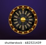 fortune wheel  game spin ... | Shutterstock .eps vector #682521439