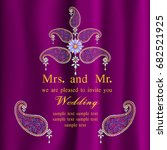 invitation and wedding cards.... | Shutterstock .eps vector #682521925