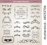 illustration set floral ornate... | Shutterstock .eps vector #68253706
