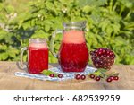 dietary detox drink with red... | Shutterstock . vector #682539259