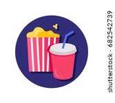 soda and popcorn vector icon | Shutterstock .eps vector #682542739