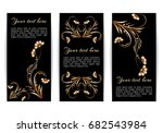 set of vertical banners with... | Shutterstock . vector #682543984