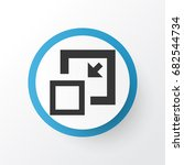 minimize icon symbol. premium...   Shutterstock .eps vector #682544734