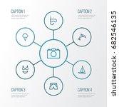 summer outline icons set....   Shutterstock .eps vector #682546135