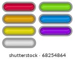 7 glossy 3d tubes in different... | Shutterstock . vector #68254864