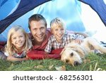 young father poses with... | Shutterstock . vector #68256301