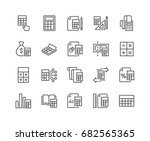 simple set of calculation... | Shutterstock .eps vector #682565365