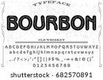 vintage font alphabet...   Shutterstock .eps vector #682570891