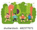 healthy running | Shutterstock .eps vector #682577071