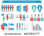 collection of infographic...   Shutterstock .eps vector #682585177