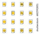 vector illustration of 16 file...