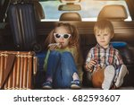 travel by car family trip...   Shutterstock . vector #682593607