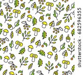 hand drawn pattern with... | Shutterstock .eps vector #682596355