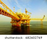 offshore the industry oil and... | Shutterstock . vector #682602769