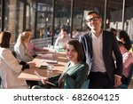 group of business people...   Shutterstock . vector #682604125