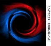 Red Blue Vortex On A Black...