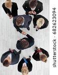 business people shaking hands ... | Shutterstock . vector #682623094