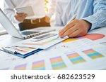 young businessmen crew working... | Shutterstock . vector #682623529