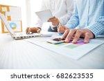 young businessmen crew working... | Shutterstock . vector #682623535