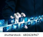 businessman holding technology | Shutterstock . vector #682626967