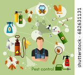 pest control services... | Shutterstock .eps vector #682631131
