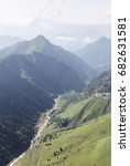 aerial view of the caucasus...   Shutterstock . vector #682631581