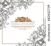 romantic invitation. wedding ... | Shutterstock .eps vector #682632739